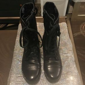 Nine West Laced Combat Boots Sz: 9.5 NEW